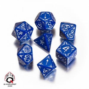 Second Darkness Pathfinder drow dice from Q-Workshop