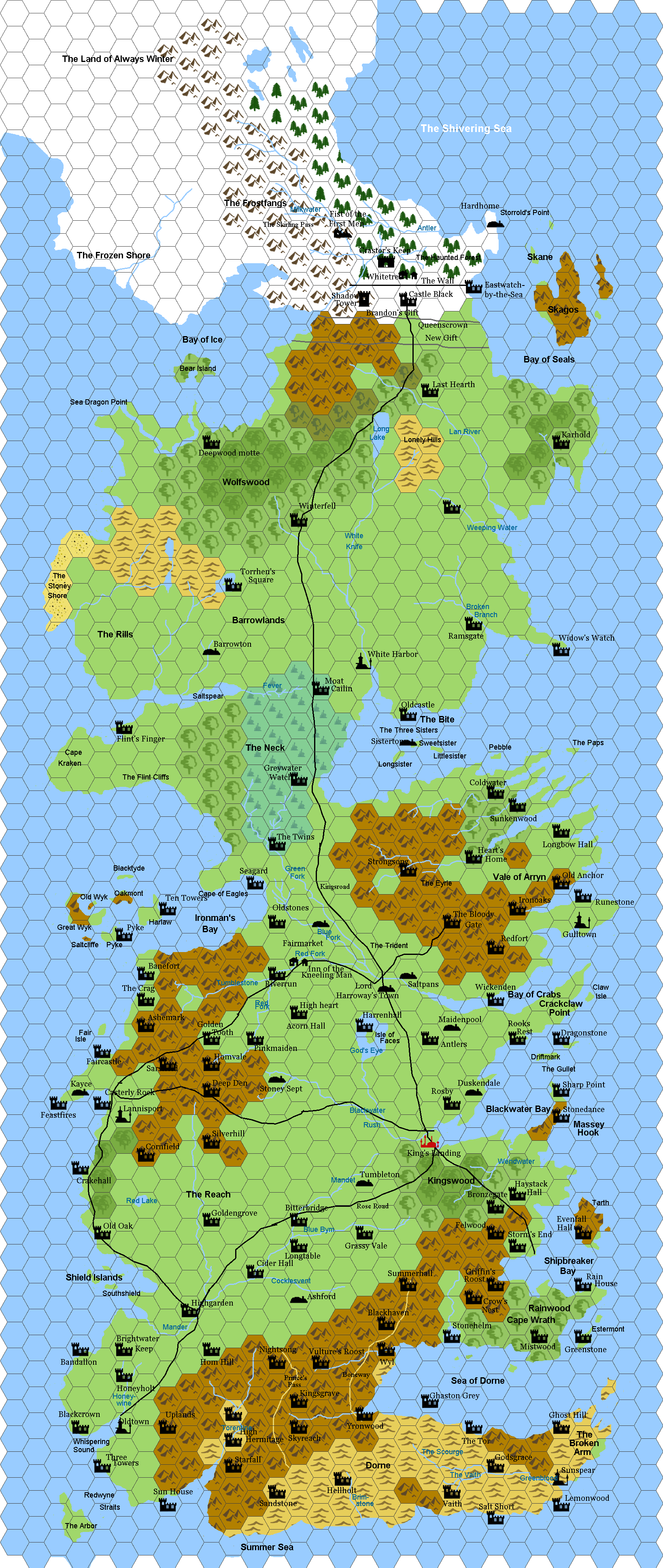 Hexographer rpg mapping dream campaign mastery westeros from song of fire and ice done in hexographer gumiabroncs Choice Image