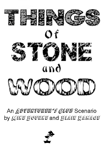 Example of title page using decorative fonts to add visual representations of tone & content