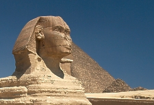 Great Sphinx of Giza, cropped image, Photo by Usuario Barcex.