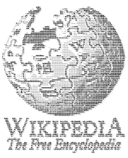 Wikipedia Logo with letters