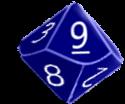 d10 blue
