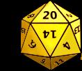 yellow d20