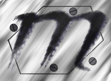 "Logo of the villainous corporation, ""Monochrome"""
