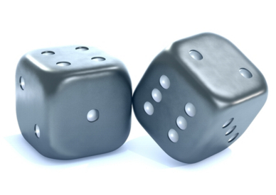 pair of dice, result unresolved