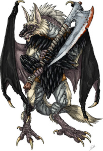 A reduced-size image for Yrisa's Nightmare. Art by Gennifer Bone.