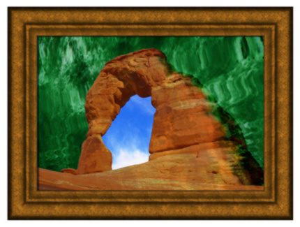 Image based on 'Delicate Arch 1' provided by FreeImages.com/Steven Ritts, Vintage Frame Image by FreeImages.com/Stasys EIDIEJUS