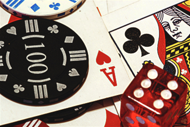 Poker Chips, Cards, and Dice by Steve Roberts)