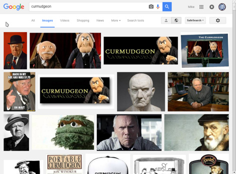 Google Image Search results for 'curmedgeon'