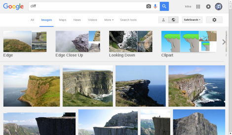 Google Image Search results for 'Cliff'