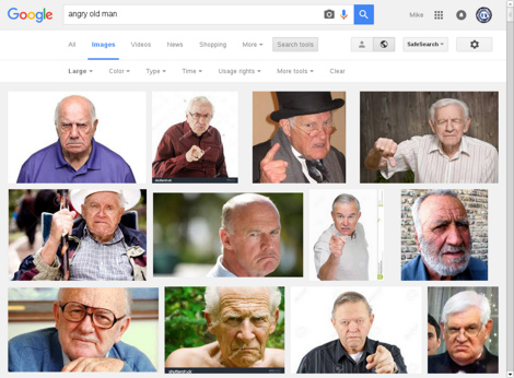Google Image Search results for 'angry old man', 'large' size