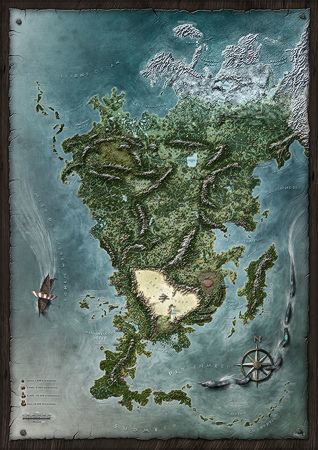 Aventuria Map by Markus Holzum