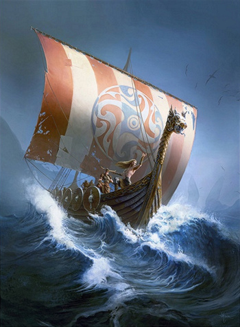 Viking Ship by Ben Maier