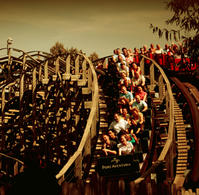 Rollercoaster at Port Aventura by Yarik Mishin