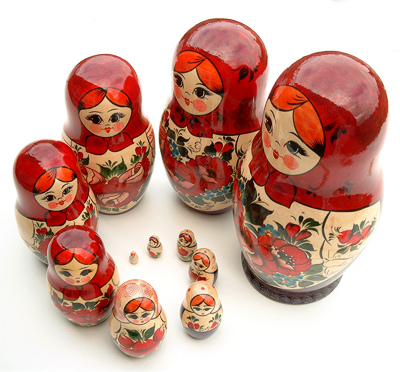 Russian Nesting Dolls by Bo Hansen