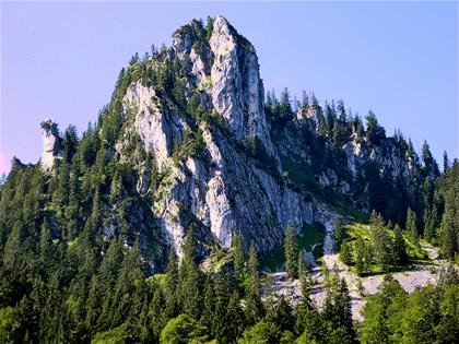 enhanced-color mountain